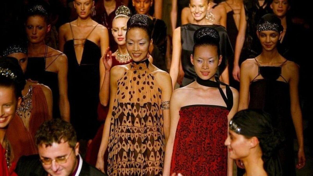 Коллекция Эльбаза 2003 года для модного дома Lanvin.