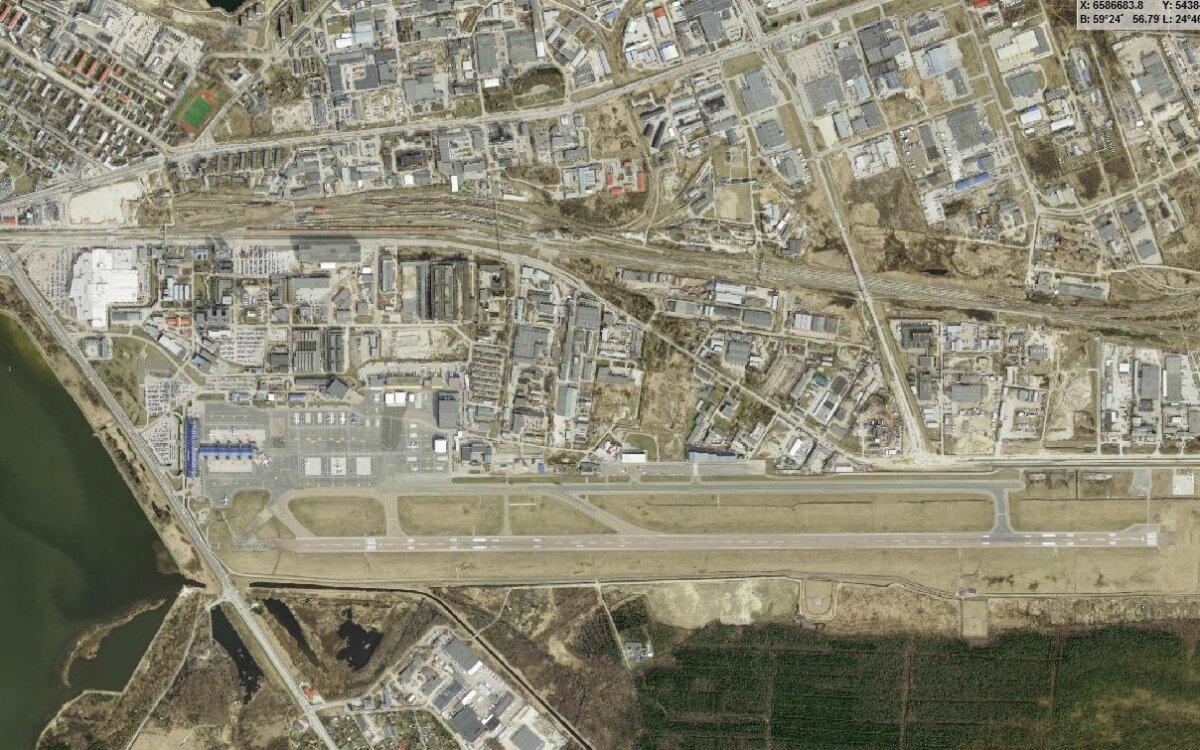 Tänapäevane lennujaam Maa-ameti ortofotol
