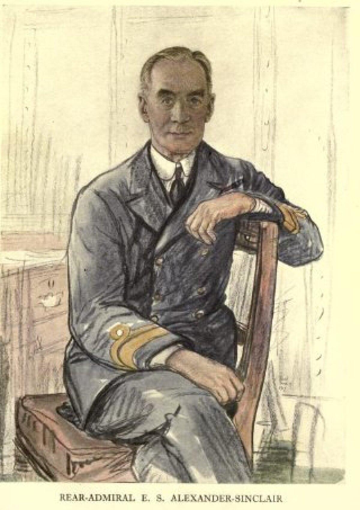 Kontradmiral Edwyn Sinclair Alexander-Sinclair (1865-1945). Portree autoriks Francis Dodd (1874-1949).
