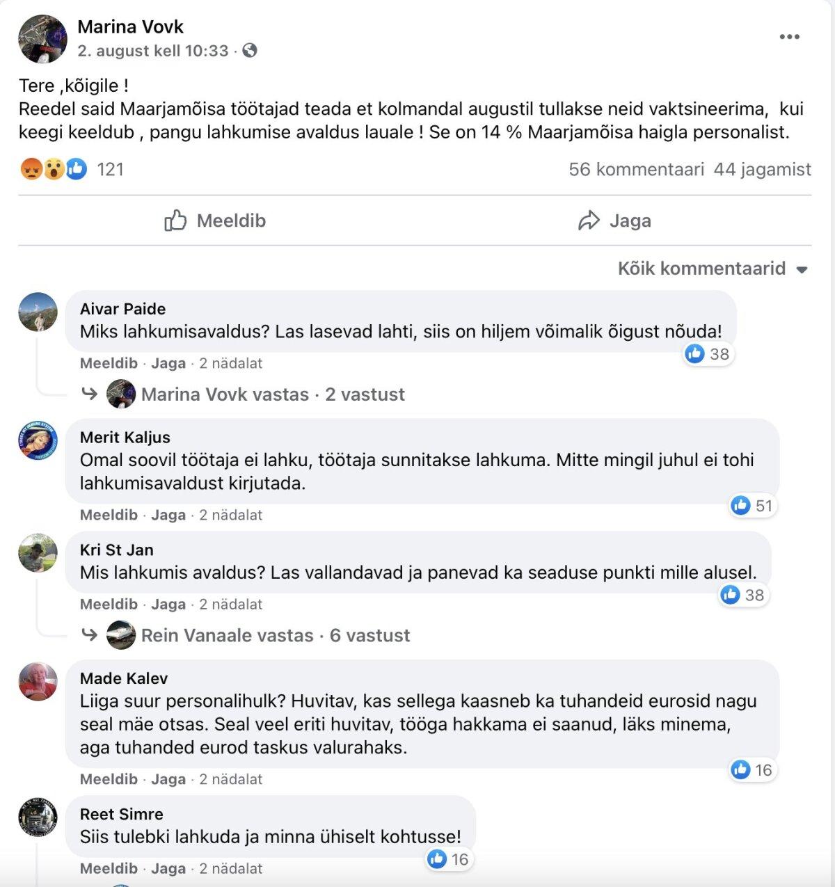 Sellised avaldused on sotsiaalmeedias levinud. Millal on tööandjal õigus vaktsineerimata inimest vallandada?