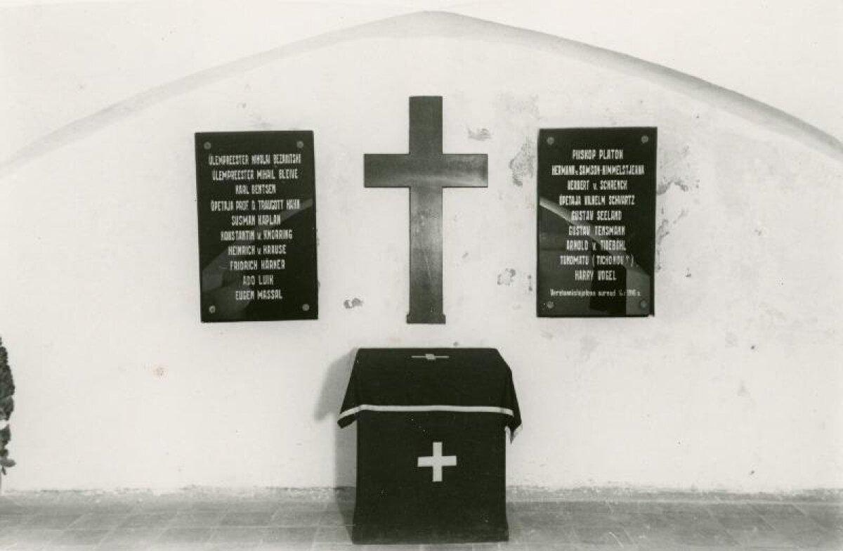 Подвал Тартуской кредитной кассы, где 1 января 1919 г. большевики убили 19 человек