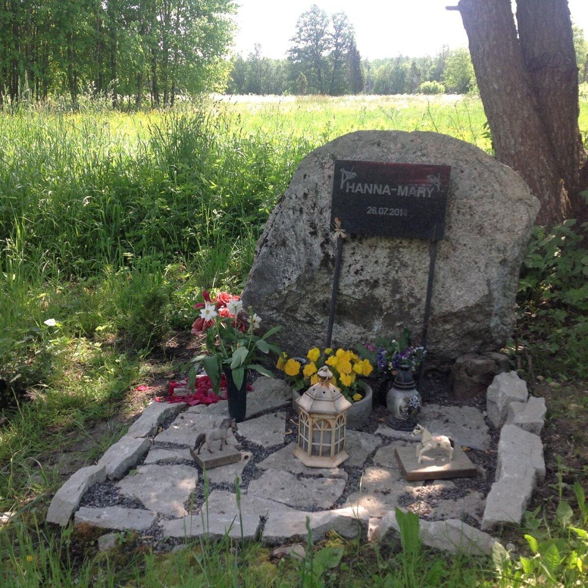 KAKS AASTAT HILJEM: Hanna Mary Algpeuse hukkumiskohta ei ole keegi Tõstamaal unustanud.