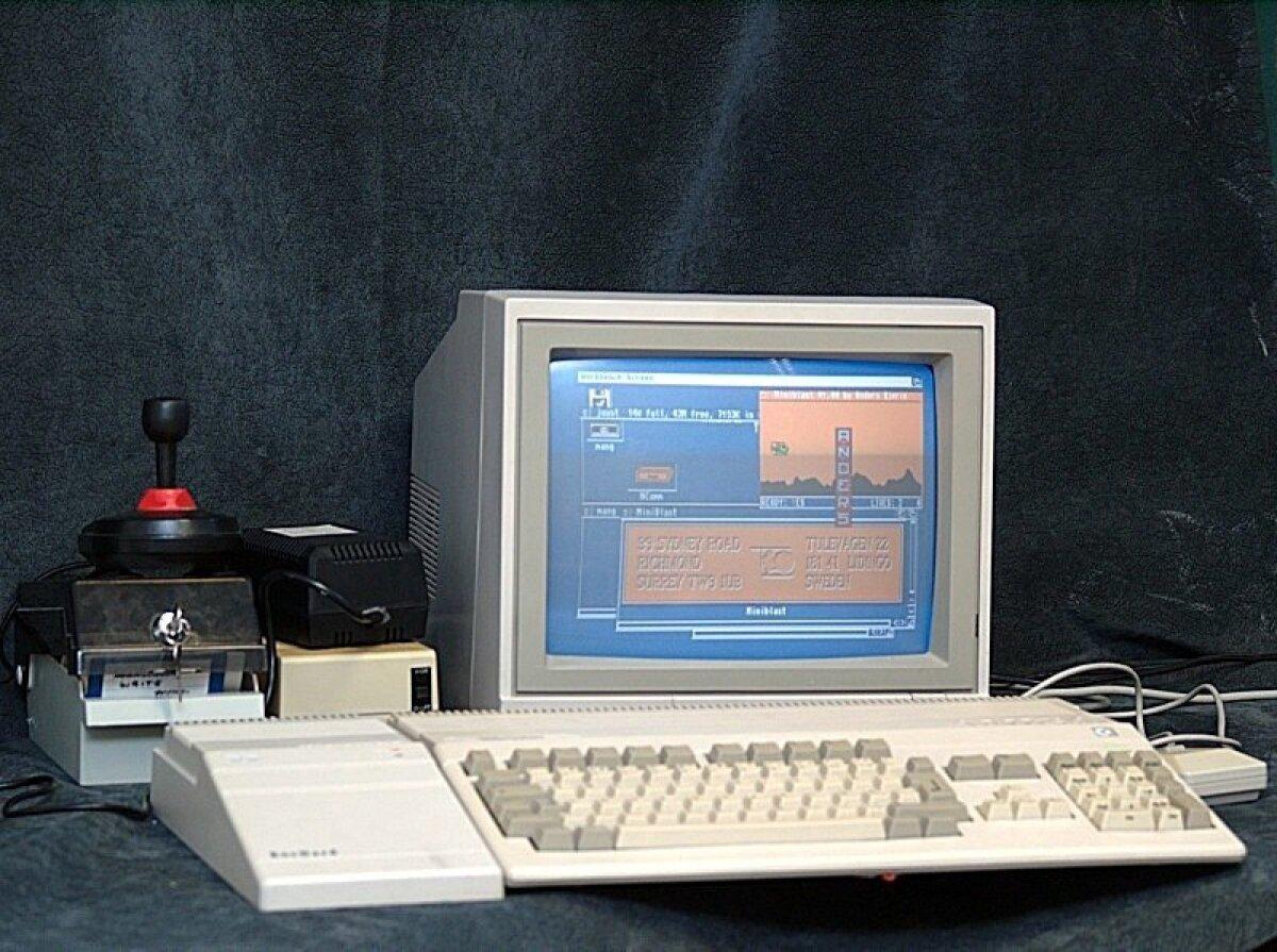 Commodore Amiga 500, tootmist alustati 1987. aastal.