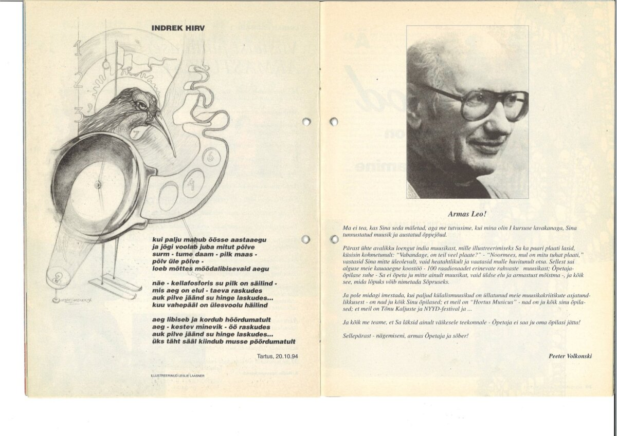 Kroonika esimene number 1996, Leo Normet, järelhüüe