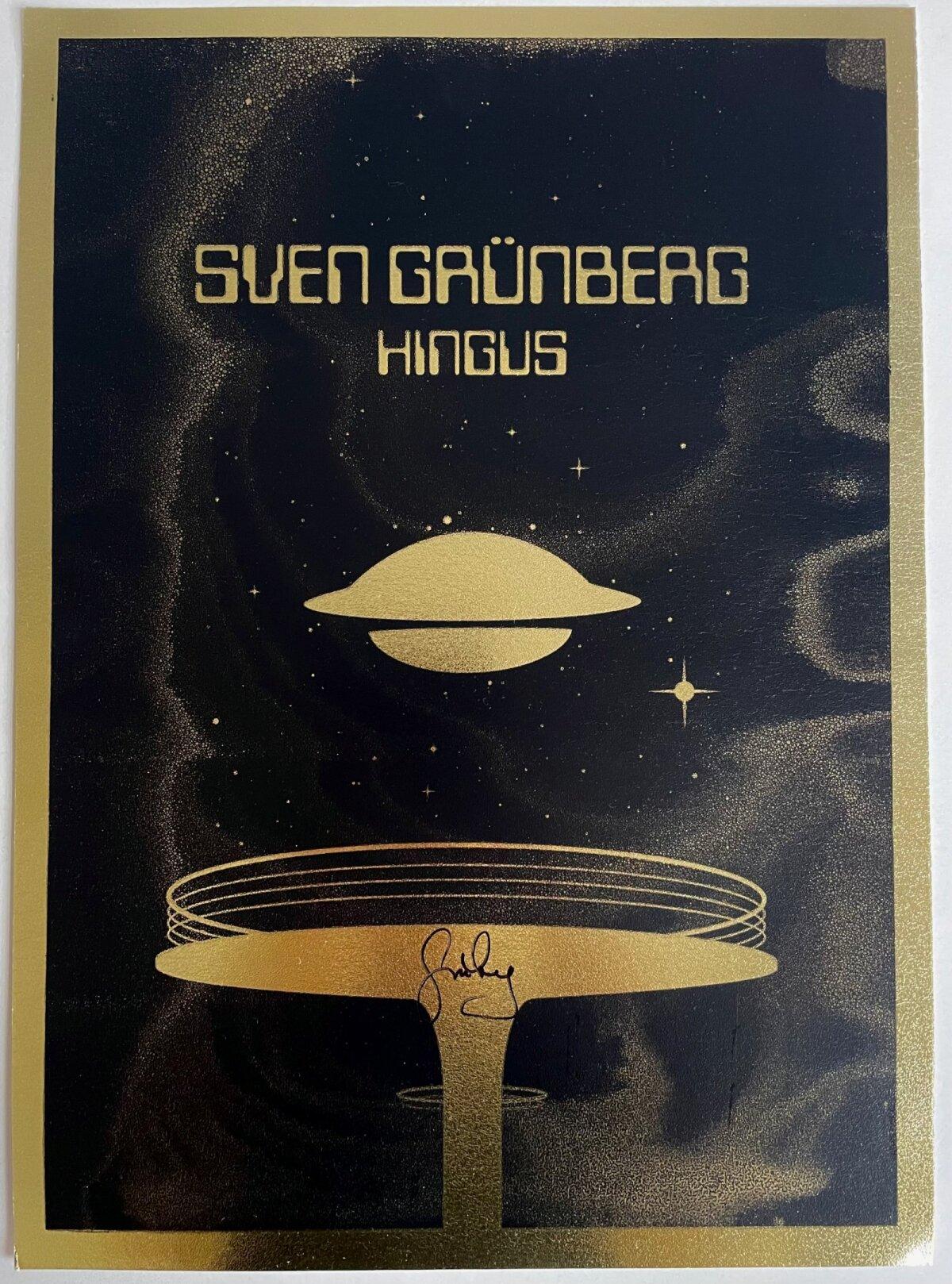 Sven Grünbergi autogrammiga plakat.