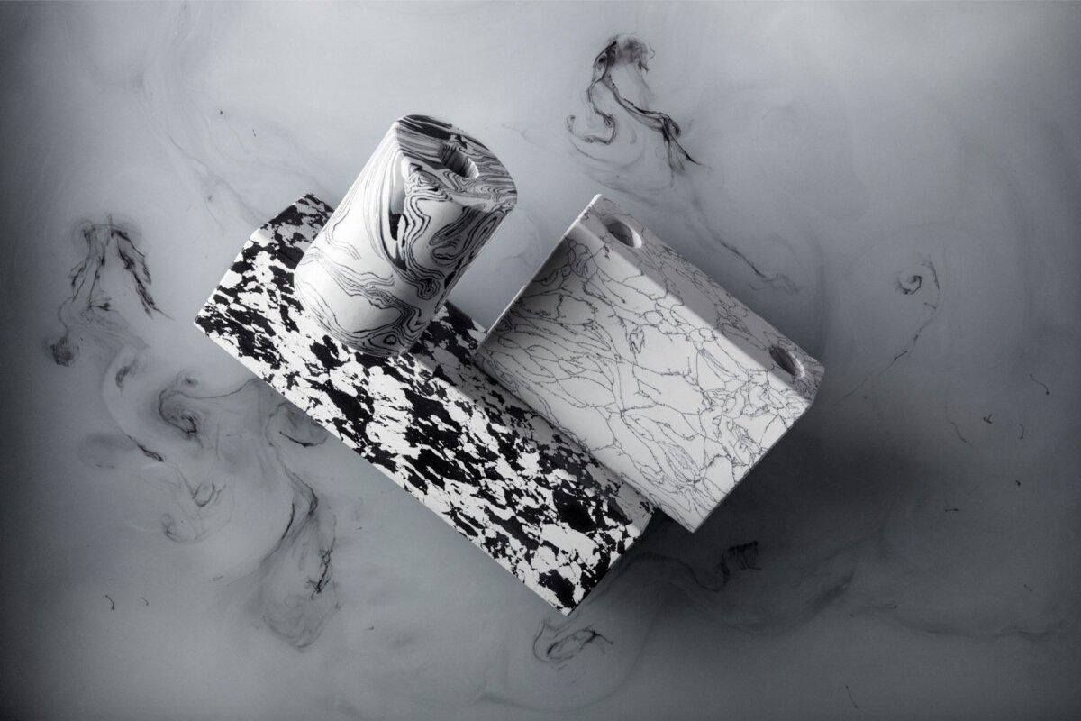 Disainer Tom Dixon alustab aastat üsna ekstsentrilisel moel. Swirl on tema uus lauatarvete kollektsioon. See on valmistatud uudsest materjalist, mis annab esemetele kolmemõõtmelise ilme ning meenutab välimuselt marmoriga kaetud paberit, kuid on tegelikult kõva kui kivi. Uudista www.tomdixon.net.