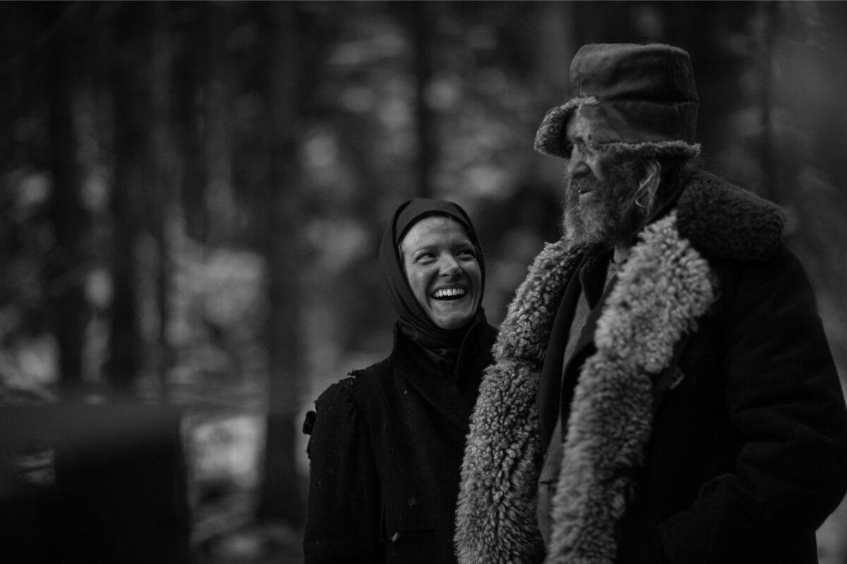 """Rea Lest ja Arvo Kukumägi filmi """"November"""" võtetel"""