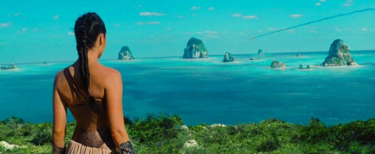Amatsoonide saar Themyscira.