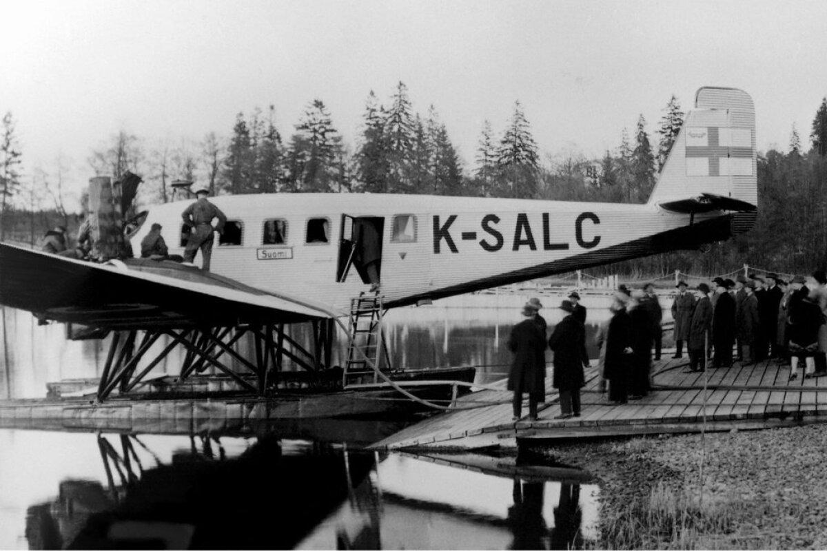 Lennufirma Aero lennuk Junkers G-24 vajas reisijate maale laskmiseks silda.