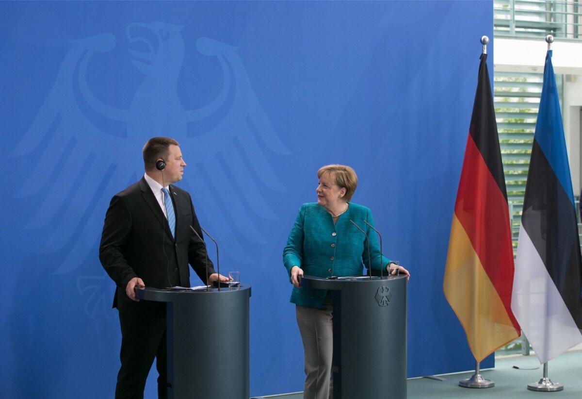 Angela Merkel kiitis Eesti digipoliitika ajamist ja eesistumiseks valmistumist ülivõrretes.