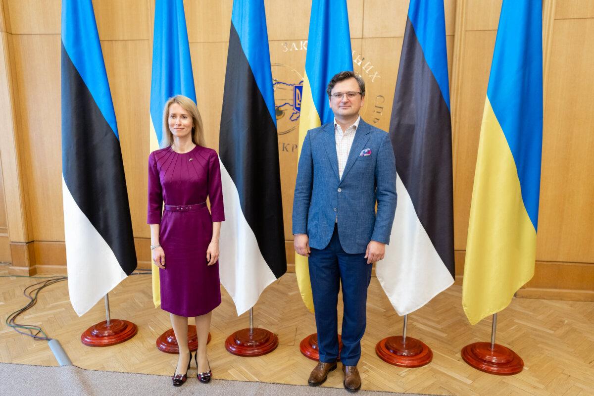 Кая Каллас и Дмитрий Кулеба