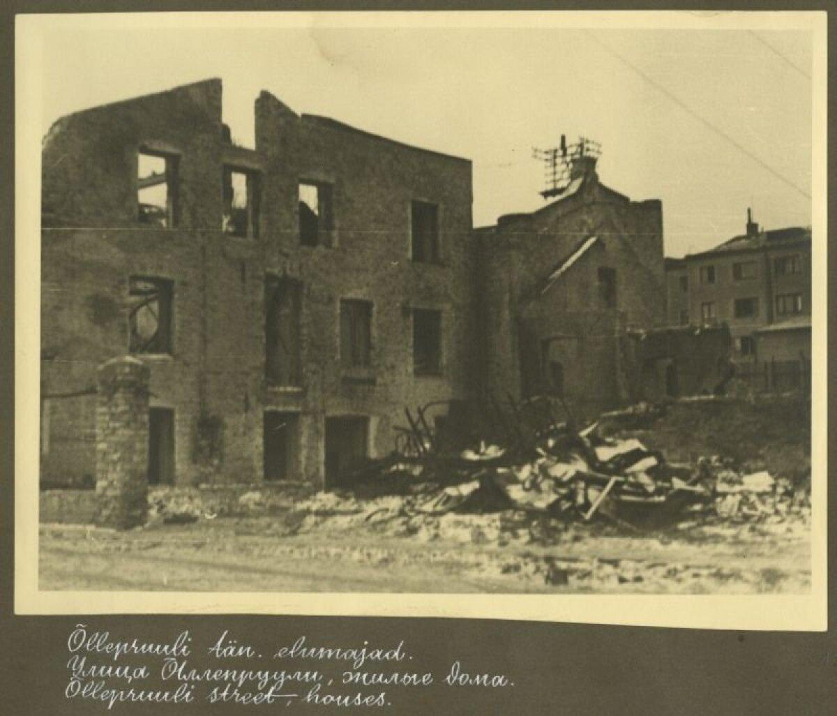 Õllepruuli tänav pärast 1944. aasta märtsipommitamist.