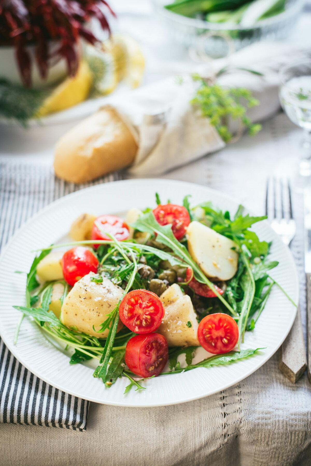 Taimne kartulisalat kapparitega