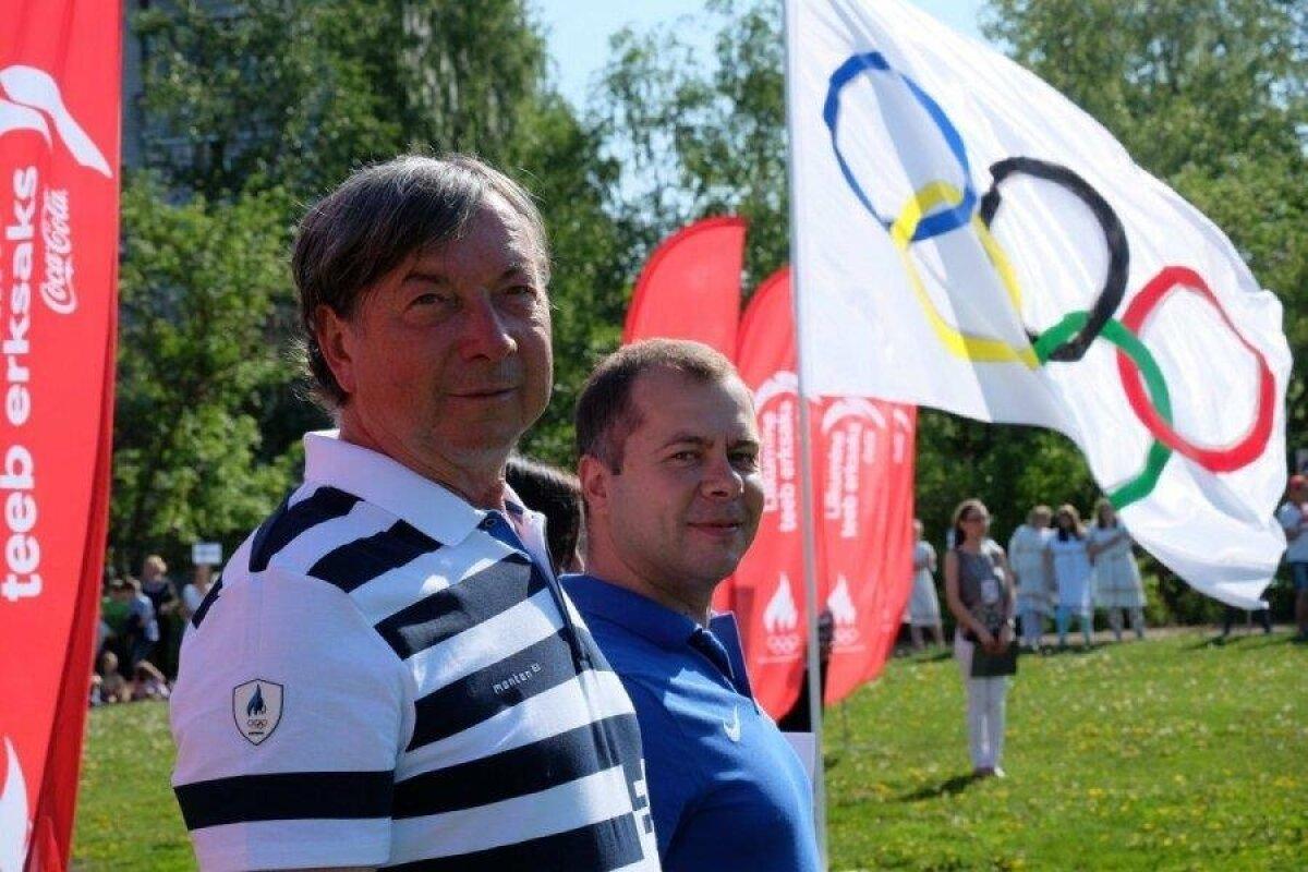 Meilimine: Olümpiavõitja Jaak Uudmae ja EOK Liikumisharrastuse juht Peeter Lusmag