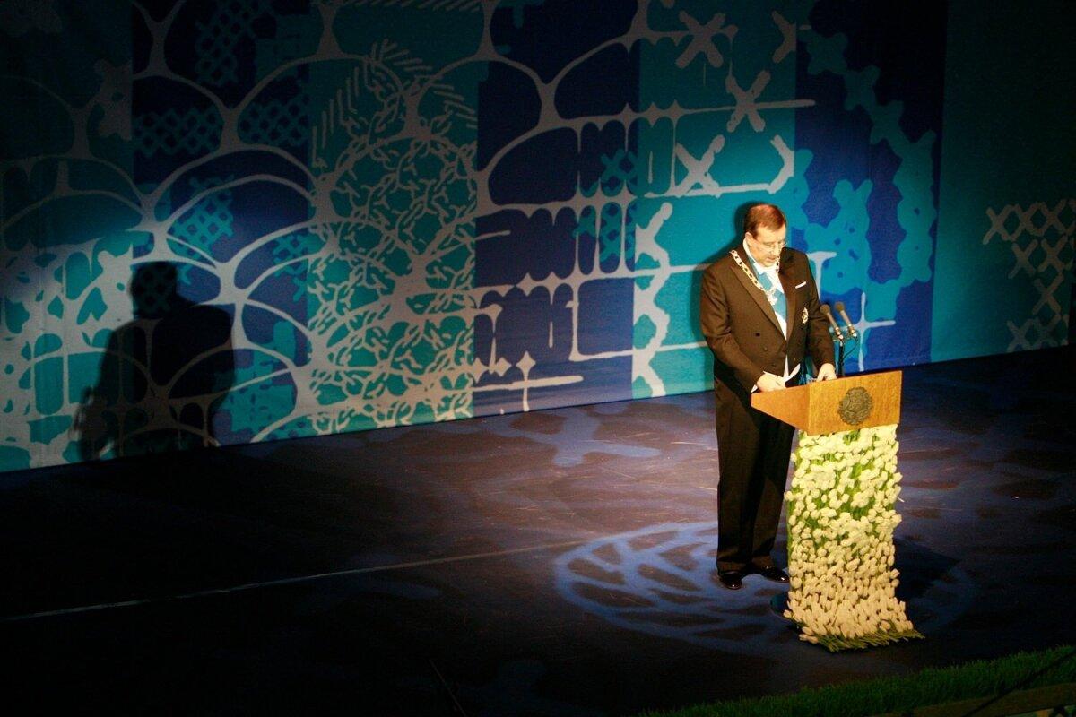 TUJURIKKUJA: Toomas Hendrik Ilves rikkus 2007. aastal oma aastapäevakõnega Andrus Ansipi tuju, sest tegi mürgiseid märkusi peaministri valitsuse poliitika aadressil.