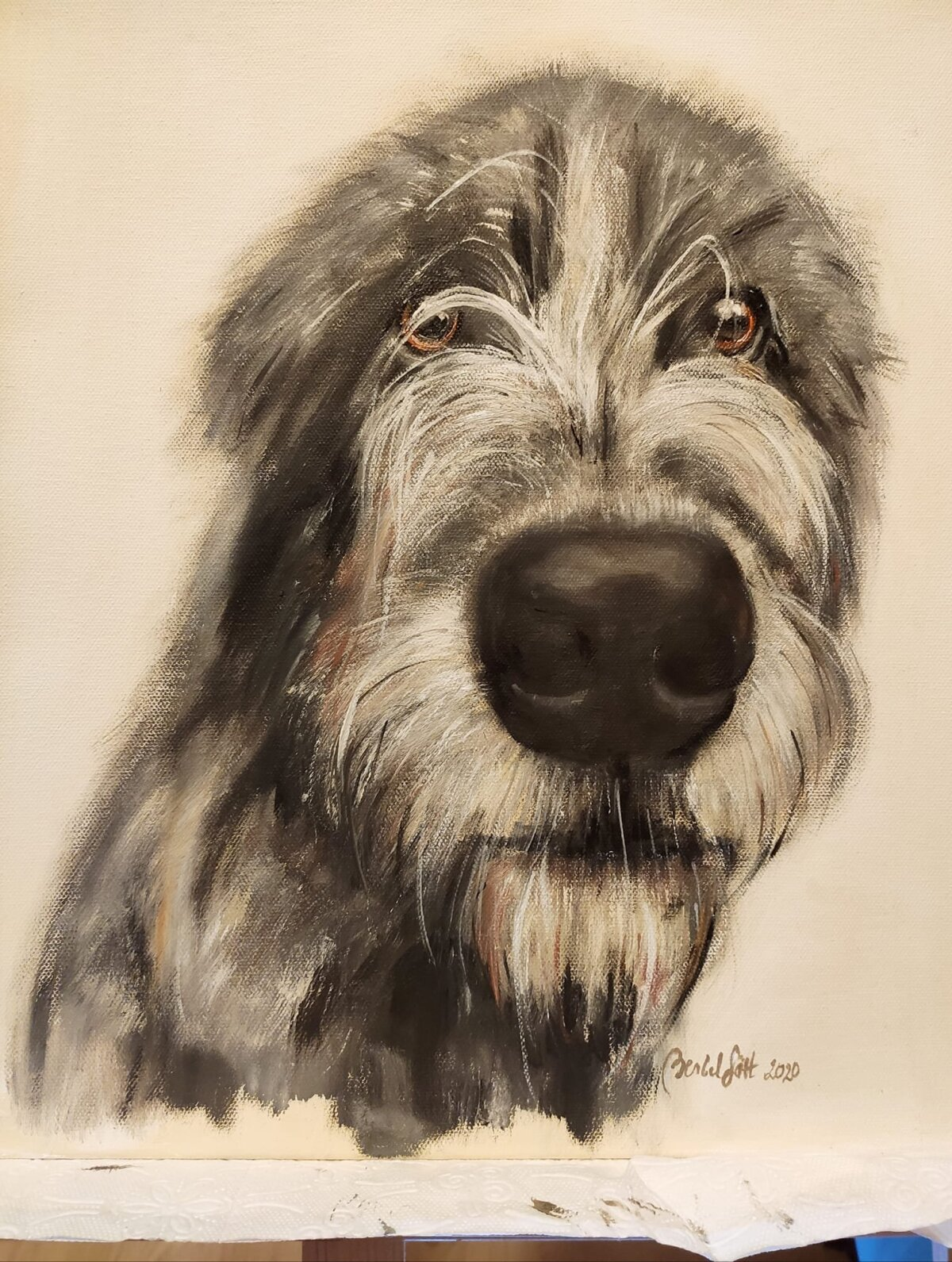 Berbeli joonistatud koer