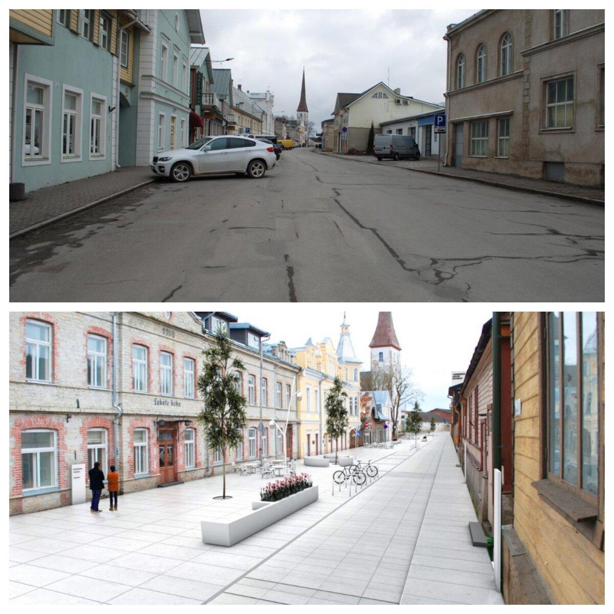 Rakvere keskus praegu ja tulevikus.