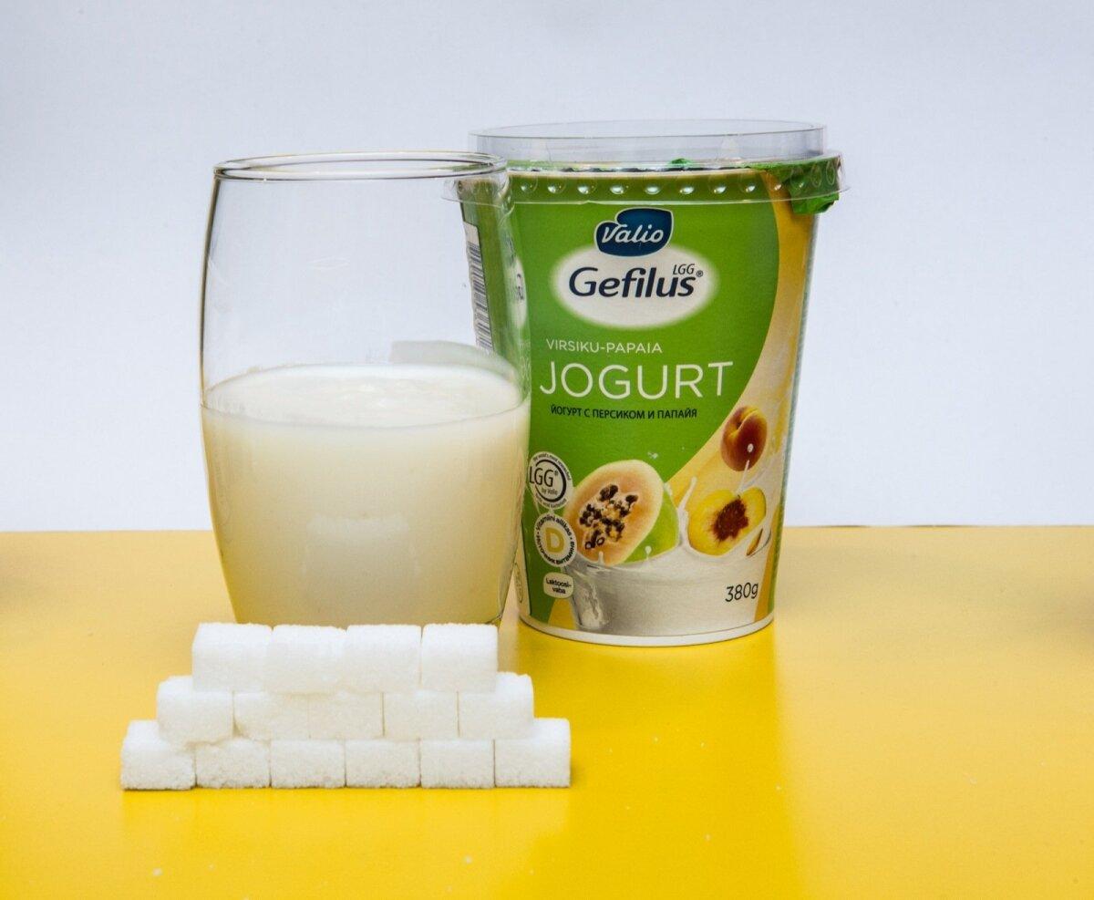 Virsiku-papaia jogurt (Valio)