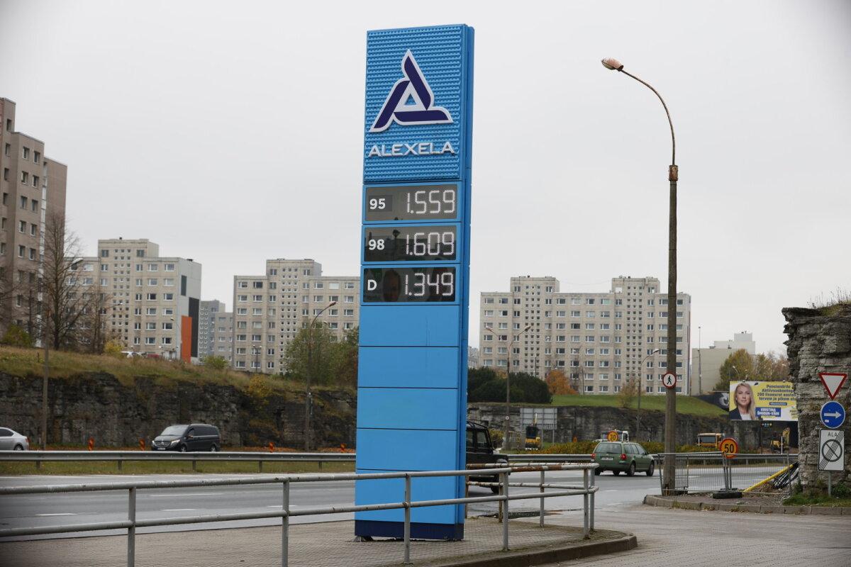 Kütusehinnad Tallinna Lasnamäe Alexela tanklas 12.10.21