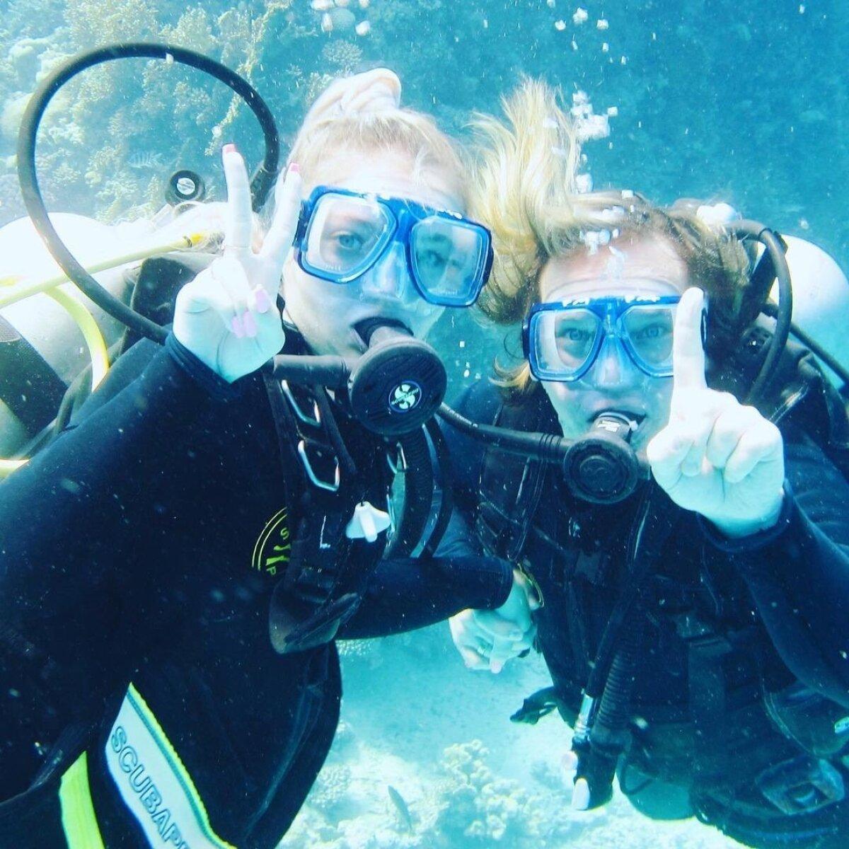 Annabel ja Jaagup Hurghadas sukeldumas.