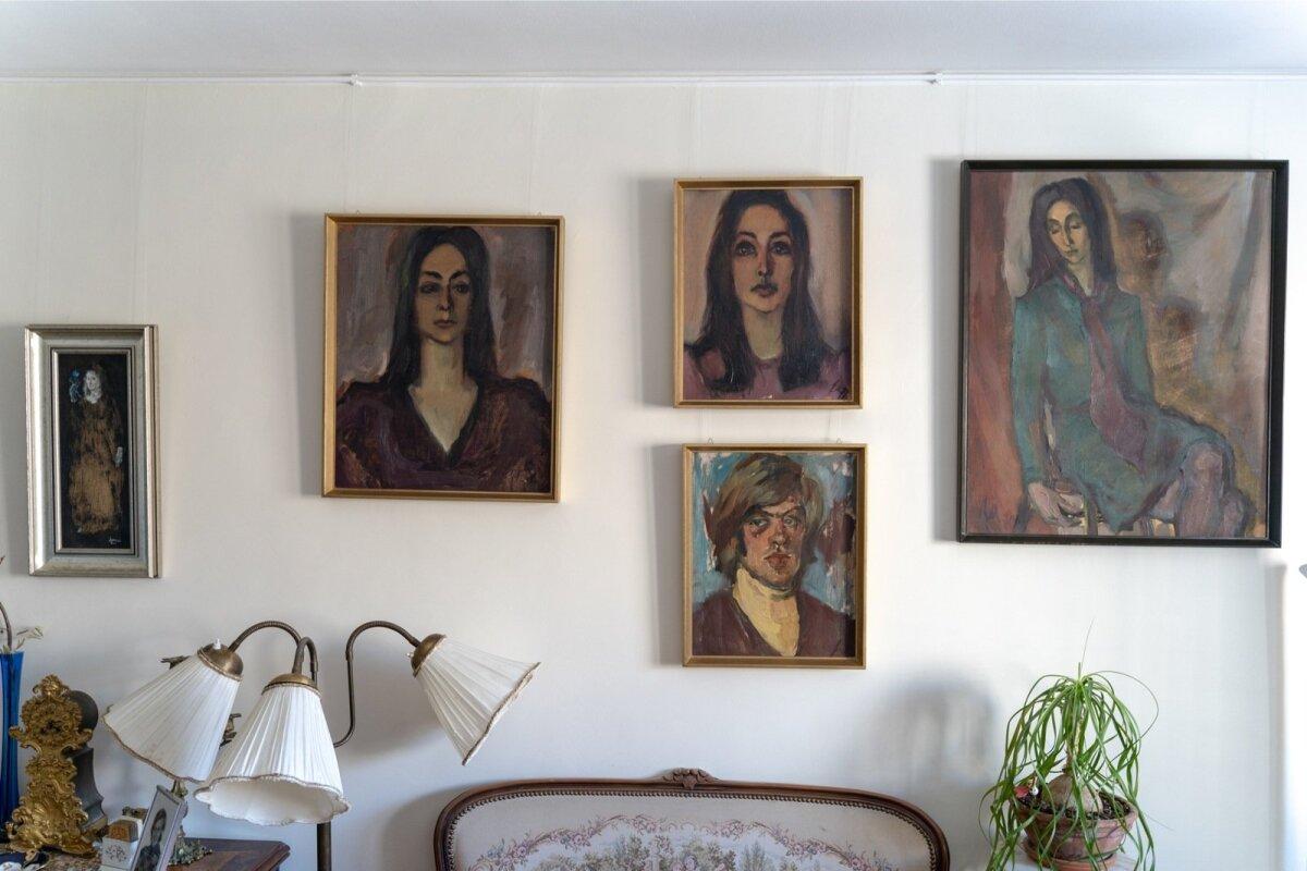 MODELLIKS: Jüri Marrani maalitud portreede seeria Mariina Mälgust ja tema abikaasa Andresest tudengipõlves.