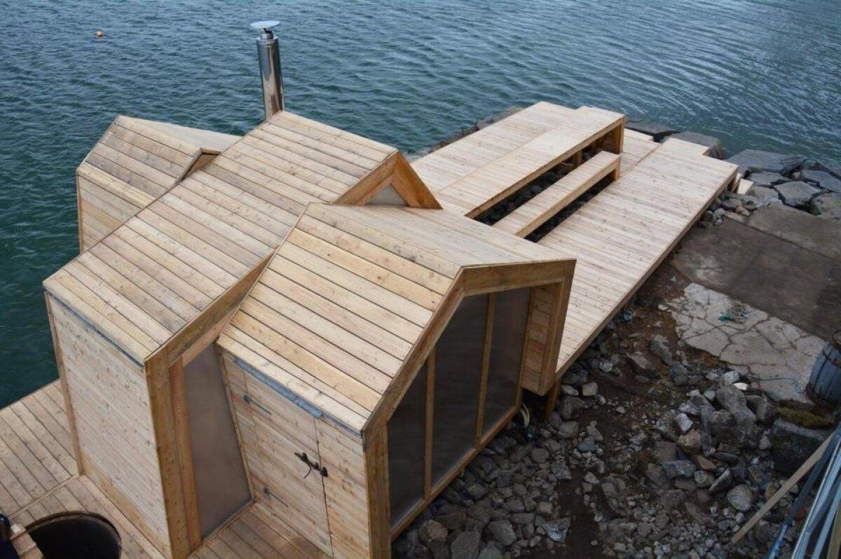Sauna loomisel olid aluseks vorm ja rütm, mis imiteerivad Norra loodust.