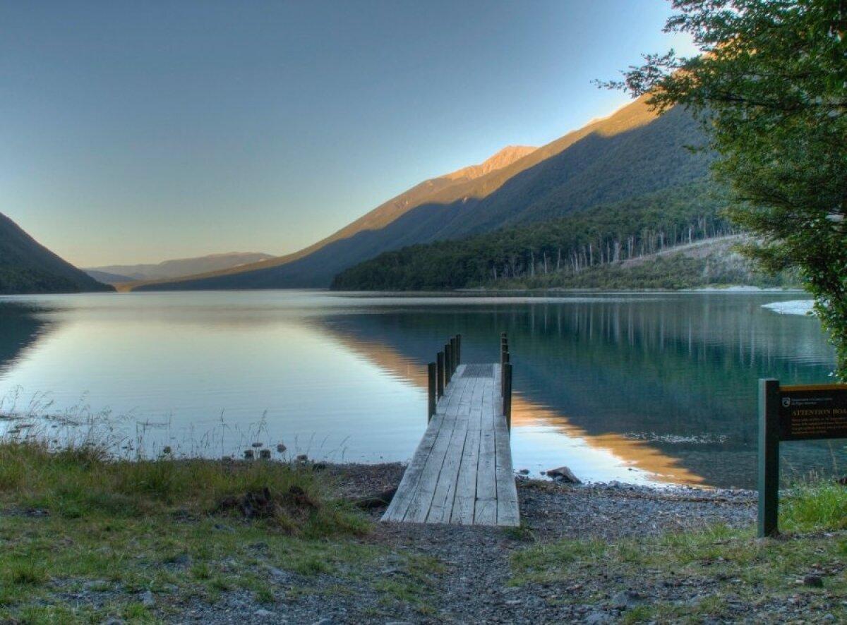 Lake Rotoiti Nelson Lakesi rahvuspargis.