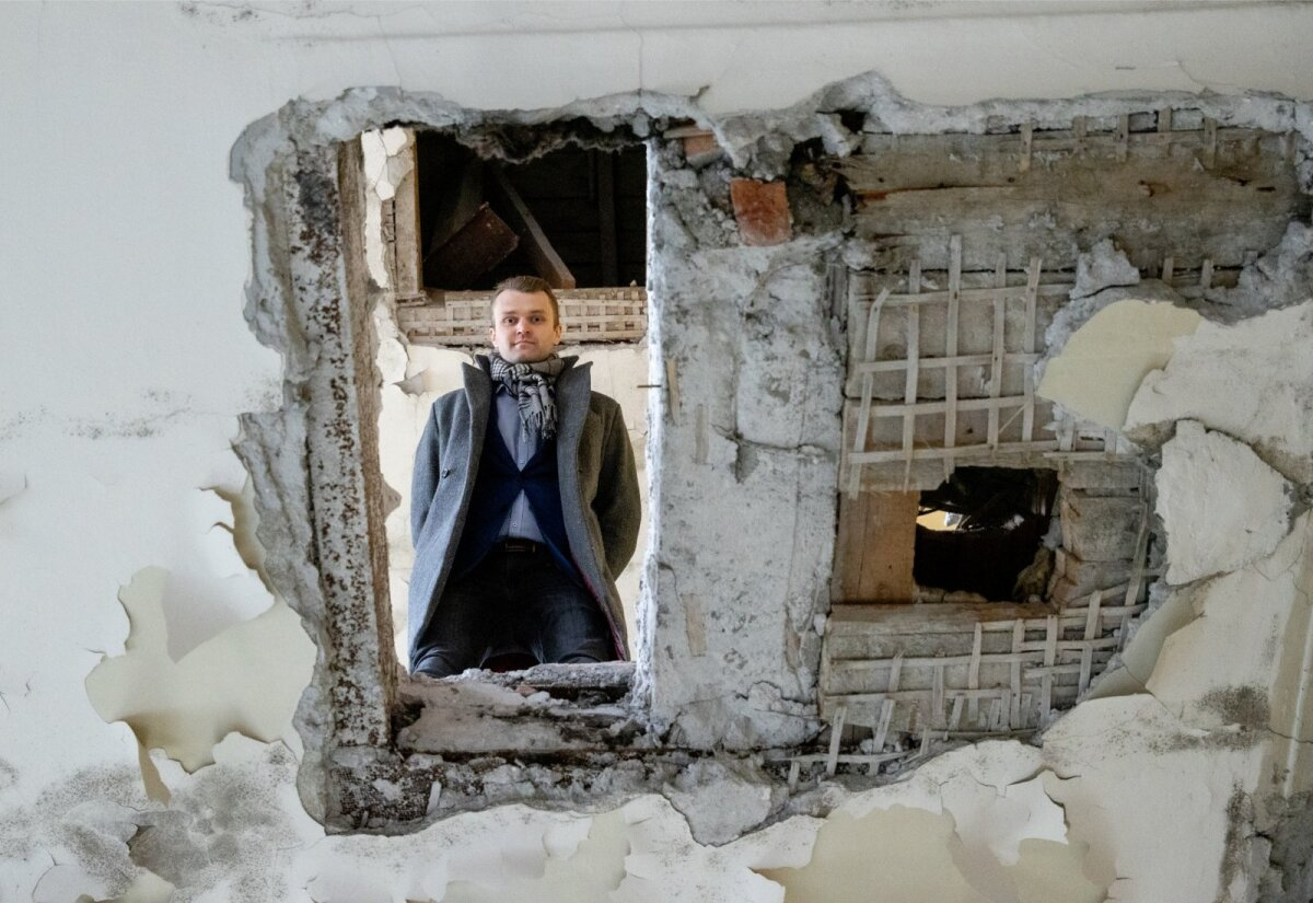 Bekkeri villa arendaja Elar Toomsalu ütleb, et villa taastamine on noore ettevõtte jaoks oluline projekt.