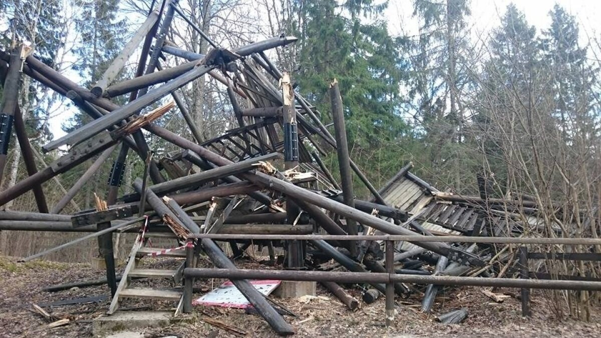 Iisaku vaatetorn kukkus kummuli