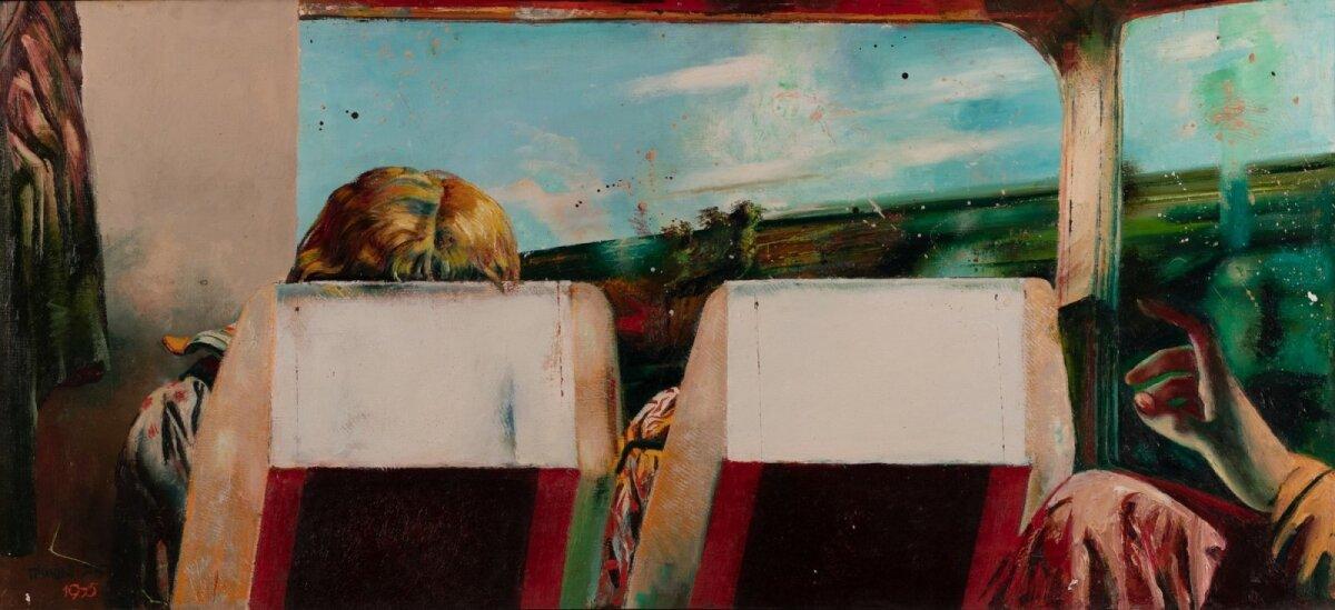 """Tiit Pääsuke """"Vaade aknasse"""" (1975, õli, email, masoniit, 55 x 119,5 cm). Alghind 25 000, haamrihind 45 000 eurot."""