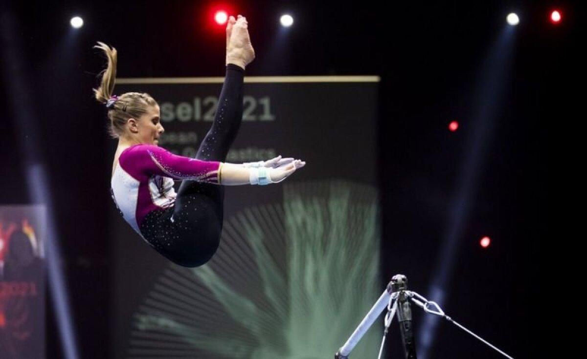 Элизабет Зайц во время финала чемпионата Европы