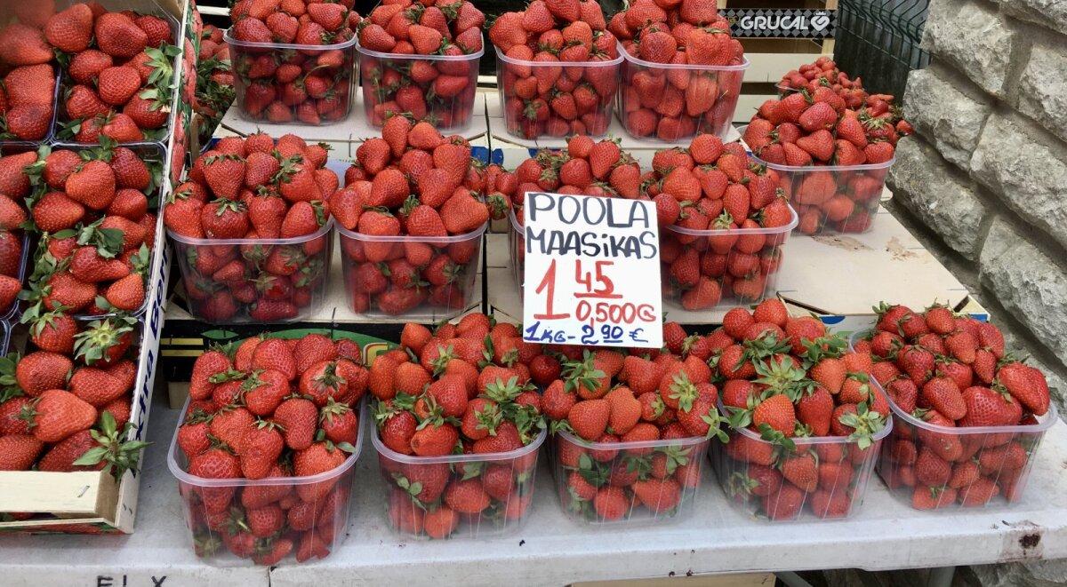 Poola maasikad Keskturul.