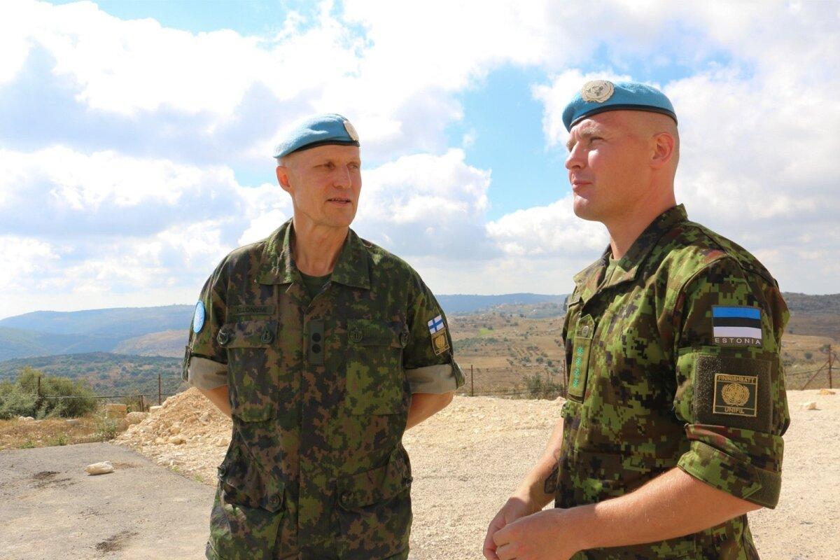 Eesti sõdurid Liibanonis töötavad koos soomlastega