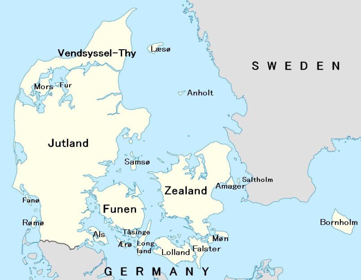Taani saared (küll inglisepäraste nimedega)