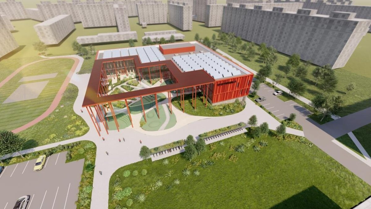 Архитектурное решение общественного центра по адресу Пунане, 17 (Innopolis Insenerid)
