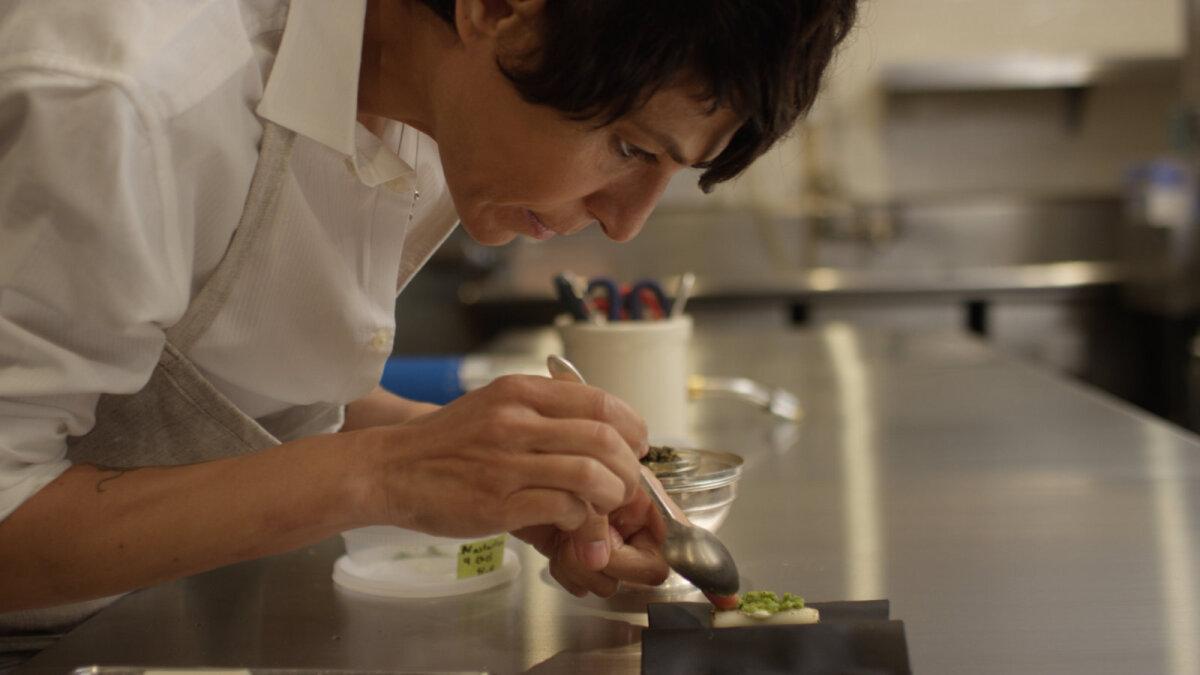"""""""Peenike joon"""" toob teiste seas ekraanile kolme Michelini tärniga pärjatud peakokad Dominique Crenn (fotol) ja Elena Arzaki."""