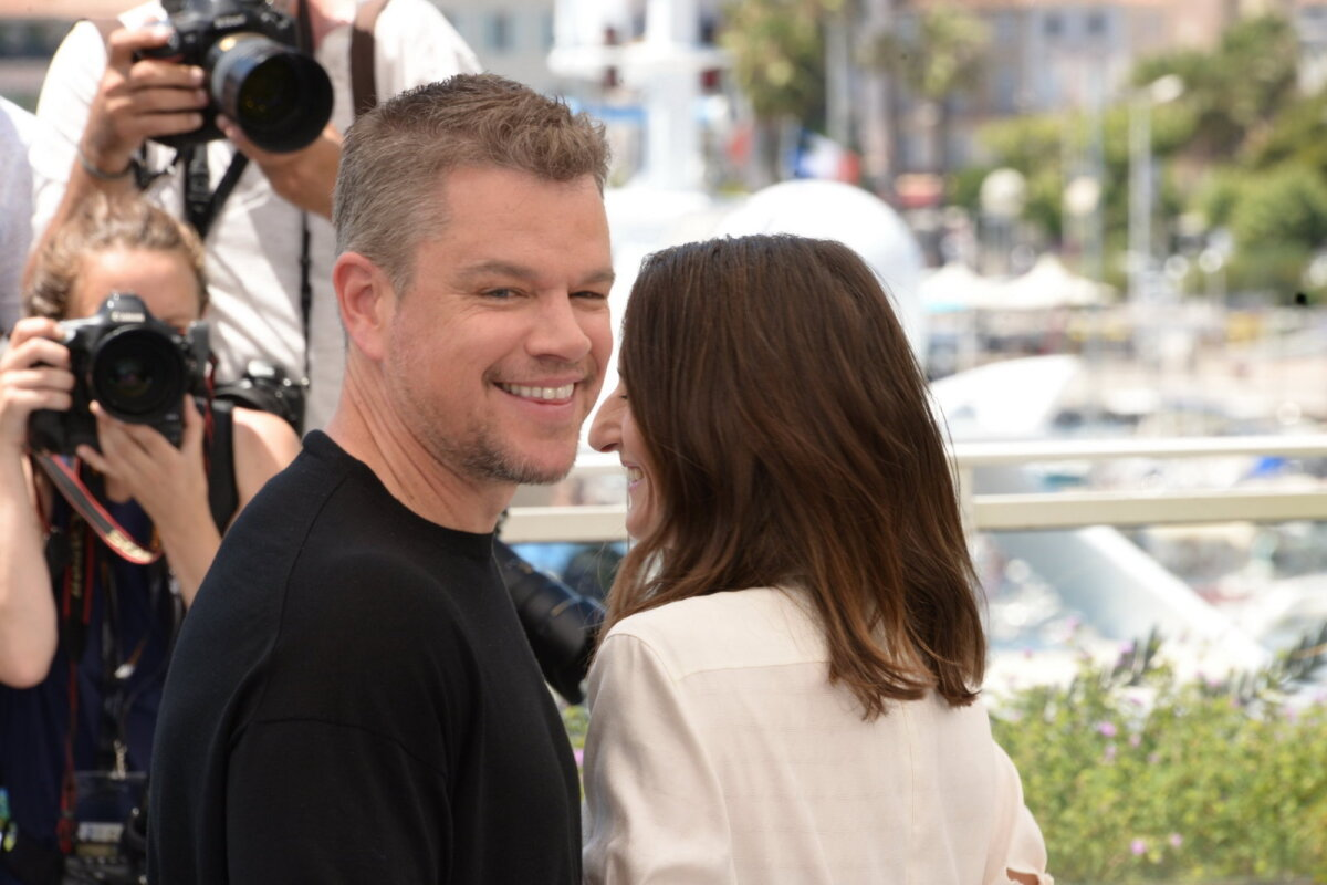 Matt Damon Cannes'i filmifestivalil.