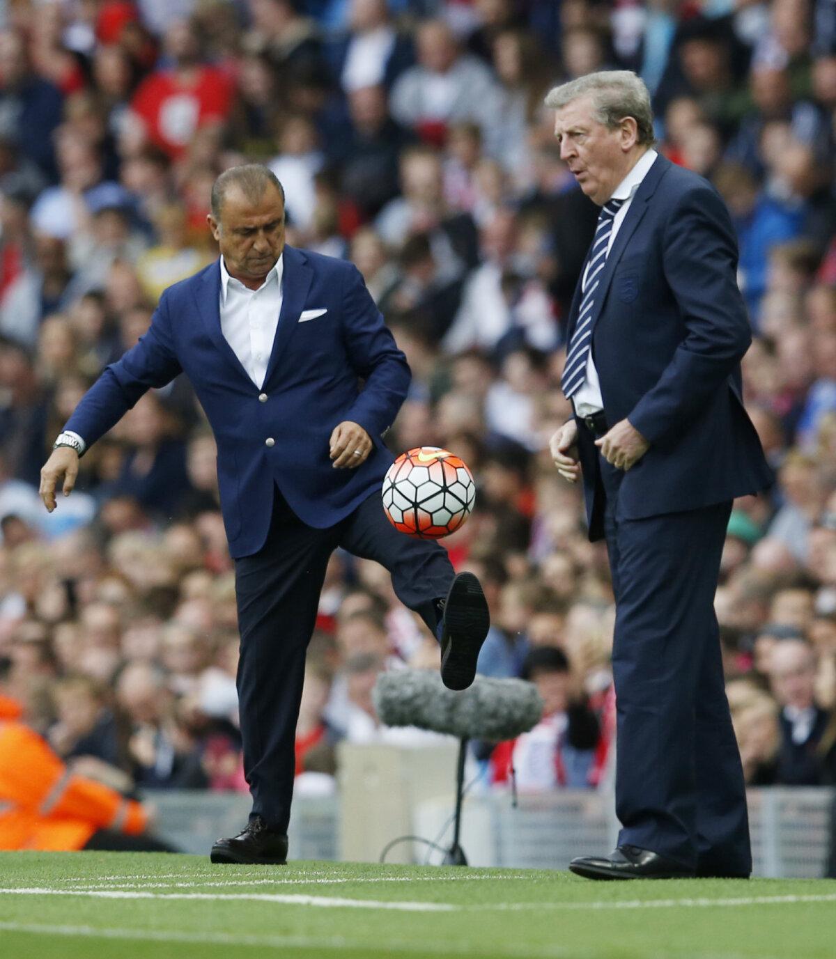 Fatih Terim (vasakul) ja Roy Hodgson hiljutises Türgi - Inglismaa sõprusmängus