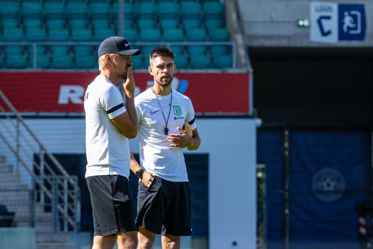 FC Flora abitreener Joel Indermitte ja peatreener Jürgen Henn said mänguplaani koostamisel olulist abi ka klubi spordidirektorilt Norbert Hurdalt, kes käis Belgradi Partizani viimast kohtumist staadionil vaatamas.