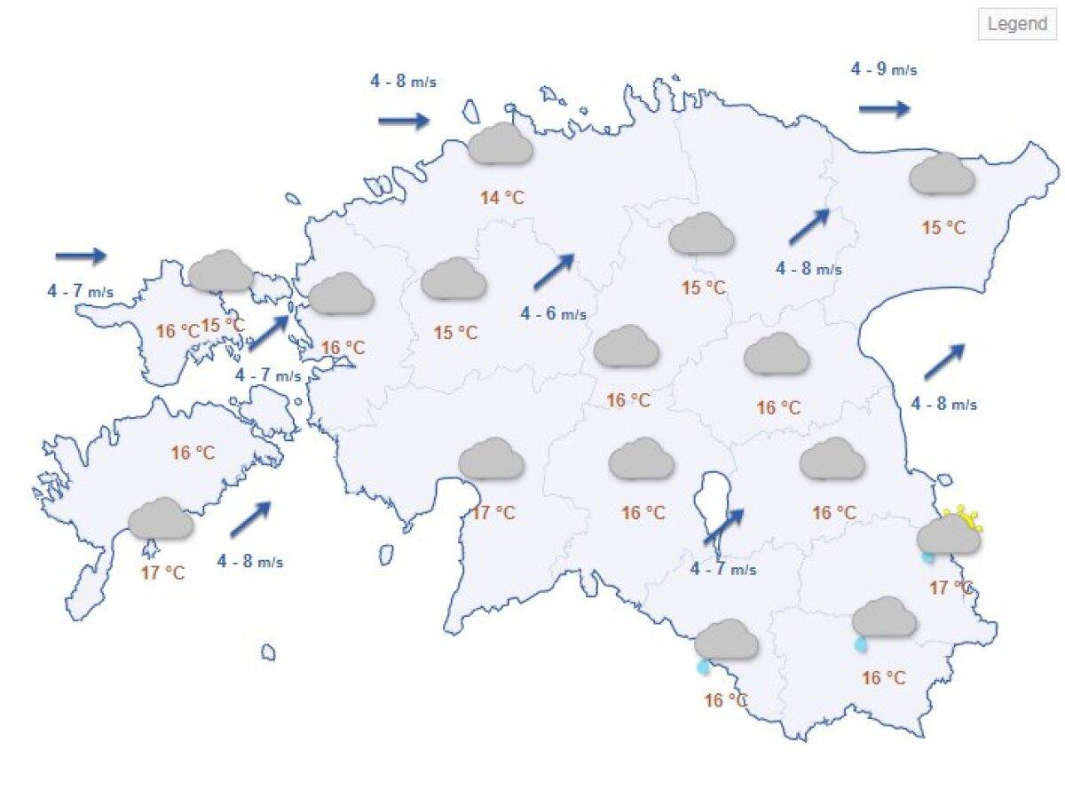 Reedene ilmaprognoos Riigi Ilmateenistuse kodulehelt