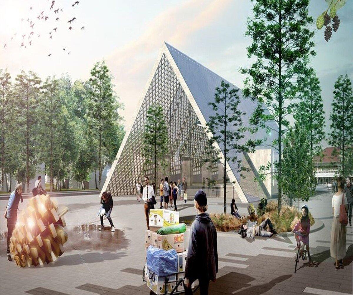 Nii hakkaks Kärdla keskus välja nägema peale projektide teostumist.