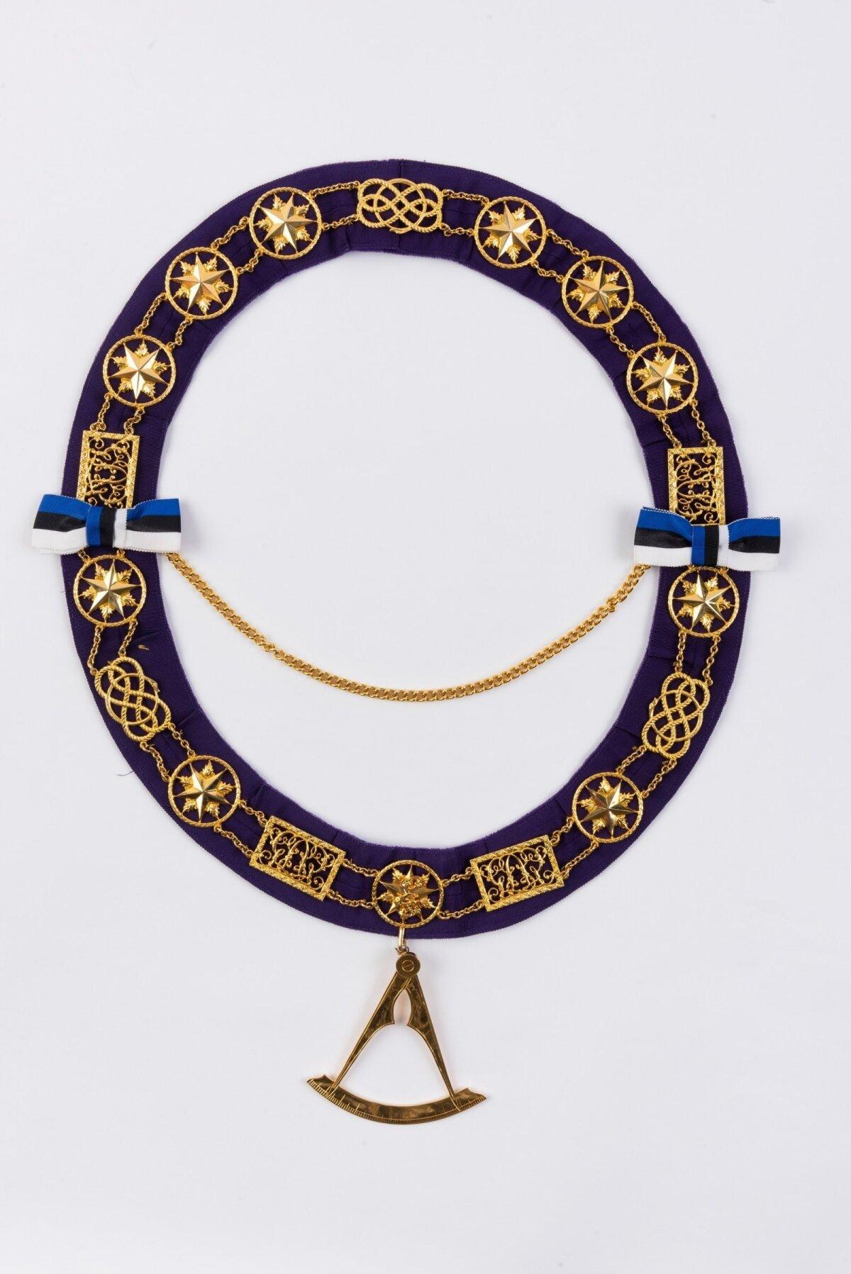 РЕЛИКВИЯ: Цепь великого мастера первой эстонской ложи масонов, принадлежавшая Арно Кёэрна. Фото: коллекция Эстонского исторического музея