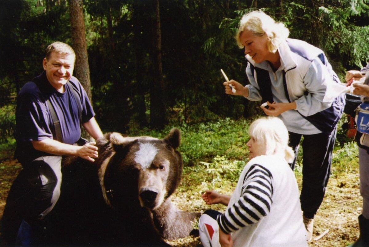 "Nikolai Baturin ""Karu südame"" võtetel."