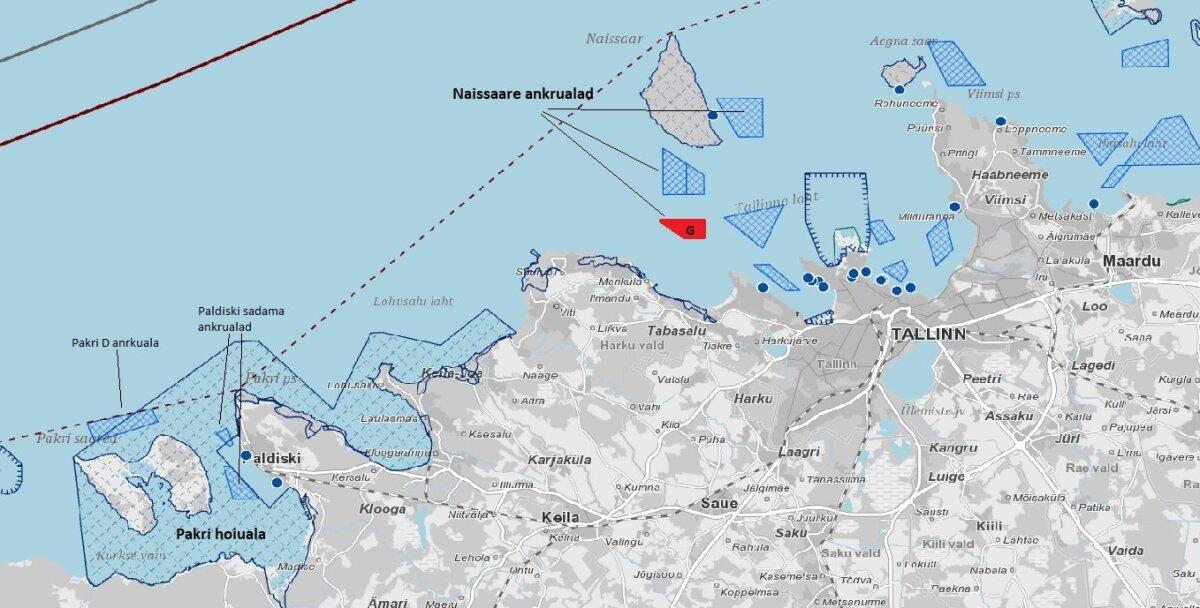Ankrualal Tallinn G oleks määruse muudatuse korral võimalik STS-laadimist teha