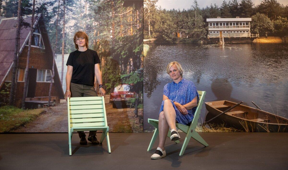 Näituse kuraatorid Epp Lankots ja Triin Ojari.