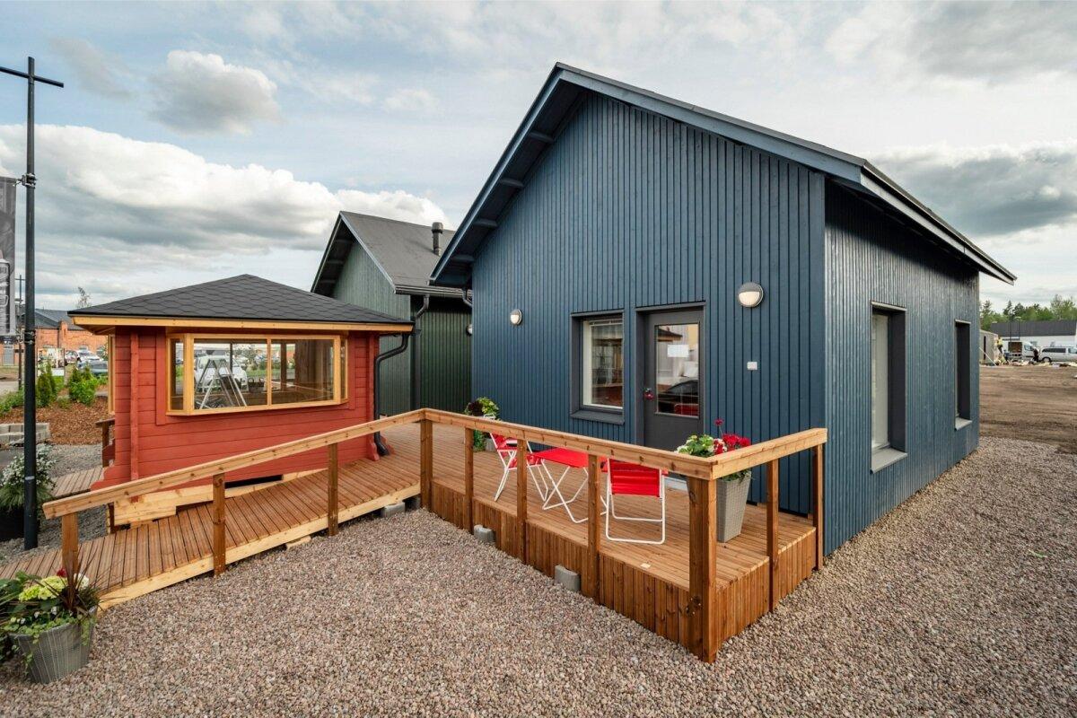 Eakatele mõeldud Lapinjärvi väikemajad