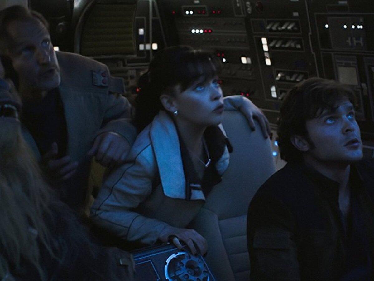 Woody Harrelson, Emilia Clarke ja Han Solot kehastav Alden Ehrenreich.