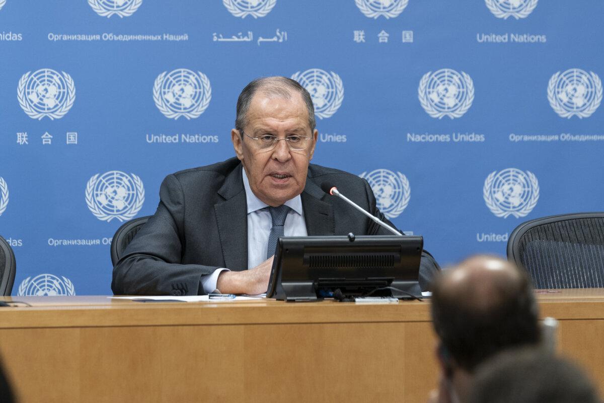 Vene välisminister Sergei Lavrov eile New Yorgis.