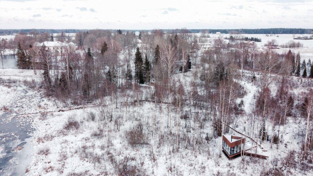 Maidla loodusvilla on rajatud puutumatule soomaastikule.