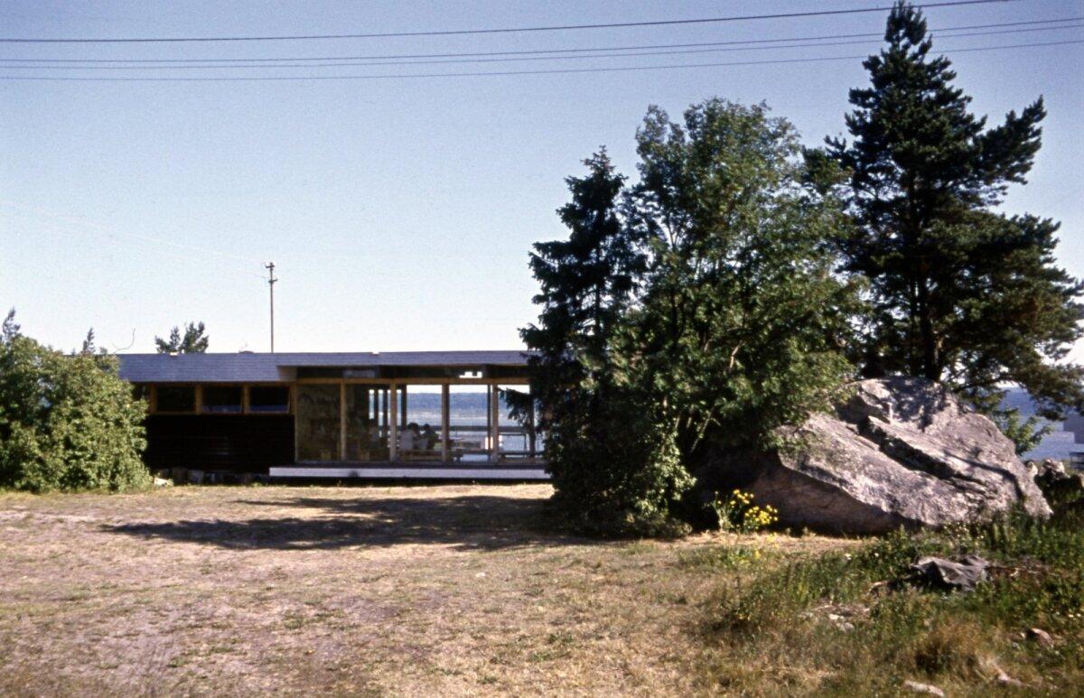 Tööstusprojektile kuulunud puhkebaas Salmistus. Arhitekt Kalju Valdre, 1969